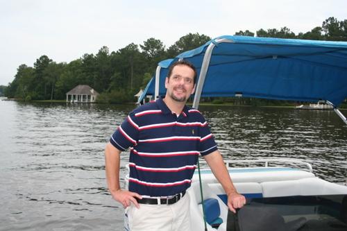 Quinn at the boat